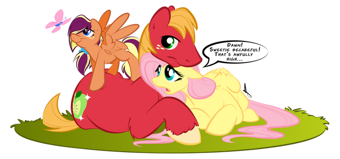 Butterflies with Mom and Dad by LittleTiger488