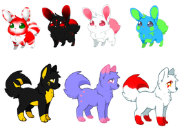 5 point adopts by ShyMoonAdopts