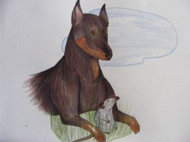 Jimmydobie and Runirat by bio-mechanic