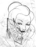 Geisha sketch by fafinhotattoo