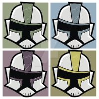 Battle Damaged Clone Troopers by HeadsUpStudios