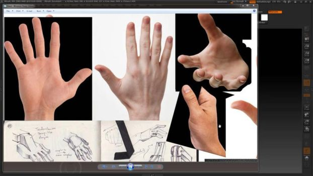Sculpting a hand In Zbrush by avcgi360