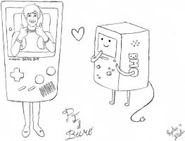Kickthepj and Beemo by SydneyNicole