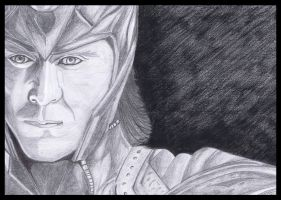 Loki in Marvel's Avengers, Pencil Sketch by vishesh999