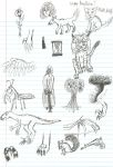 Sketches Made in English Class by MelyssaThePunkRocker