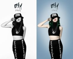 JIYOON CRAZY Coloring Photoshop BY:MAI T by MaiTAbdallah