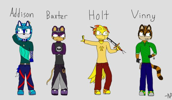 Four More Fan Characters by TimtheOwl8275