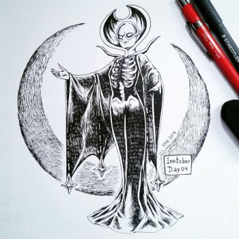 Inktober 2016 #04 by raposavyk