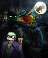 Dark Knights plus Clown by zims-lost-soul
