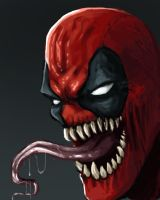 Deadpool venom - speed paint by FonteArt