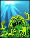 Godzilla The Series - The Seaweed Monster by earthbaragon