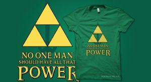 T-Shirt: Triforce Power by dontblinktees