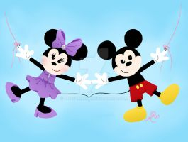 Mickey and Minnie Paper Chain by ArtsyMaria