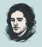 Sketch - Jon Snow by Fridsiee