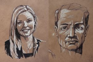 Pen Sketching: Faces by outsidelogic