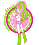 Green pink vector doll by angychan