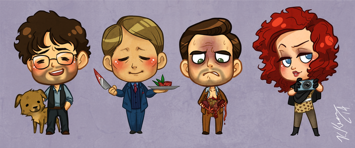 Hannibal Stickers! by heavensong
