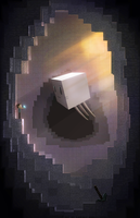 Cubic cave   Minecraft by TakeOFFFLy