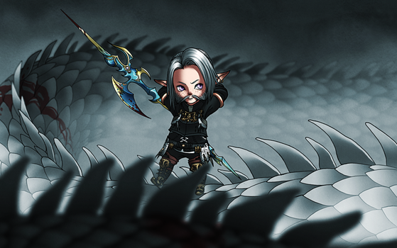 Dragoon Lalafell by linnyxito
