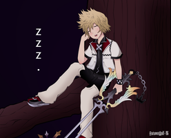Commission - Roxas by AutumnWolf-96
