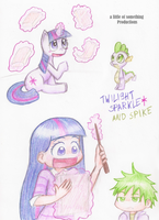 Twilight Sparkle and Spike by alittleofsomething