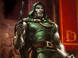 Dr Doom by Clayton Crain by Superman8193