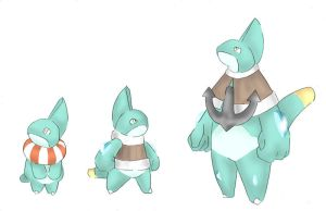 Fakemon water starter by Patho-boy