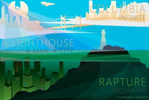 Bioshock Postcard by legathin
