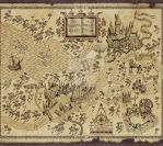 Harry Potter's marauders map by ilovechez