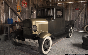 Ford Pick Up In Garage by slographic