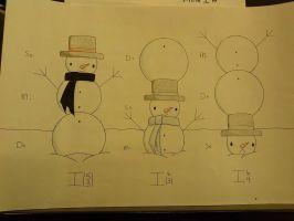 Snowmen Chord Inversions by FurFurTheFurryMouse