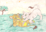 Simba and Nala by Fluttershy626
