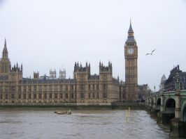 Big Ben and the Palace of Westminster by psychoviolinist1012