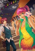 .:Commission: summer festival:. by 69XuXu69