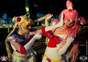 Usagi and Chibiusa always crazy xD by CassyCosplay