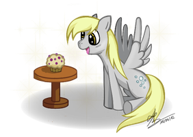 Derpy and the muffin by HardLugia