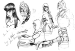 Doodles by Cael-Free