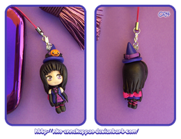 Chibi Witch phone strap by Nko-ennekappao