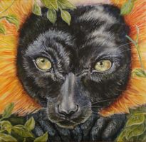 Red Ruffed Lemur Portrait by ObsidianHyena