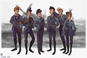 Pilots line up by Jim-the-Oni