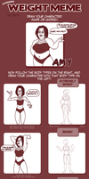 The Weight Meme: Amy by antioxidated