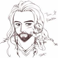 Pocket Bilbo and Thorin by RedCAT18