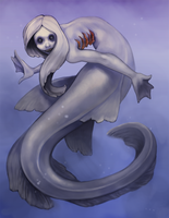 Frilled sharkmaid by stringmouse