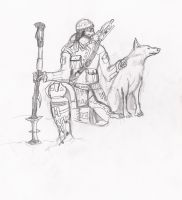 Frost Wolf Character scetch 1 by JoeCool42