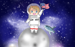 Arrival to the moon wallpaper by ChibiSo