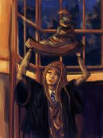 Self portrait in Hogwarts by princesscleo91