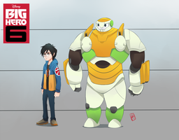 Hiro and Baymax by AKABurningFlame