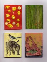 4 Art Cards by Quilsnap