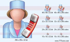 Receptionist Icon by medical-icon-set