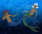 Merpeople: Soma and Agni by Whitewolfie666